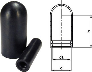 Ribbed EPDM Caps