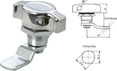 Wing Knob with Padlock Fitting