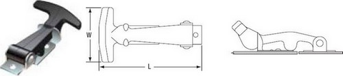 External T- Handle Latches