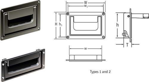 Hinged Recessed Handles