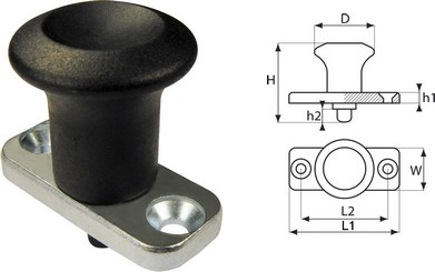 Index Plunger - with fixing plate