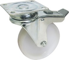 Nylon Wheel Swivel Plate Braked Castors