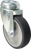 Synthetic Rubber Tyre Bolt Hole Unbraked Castors