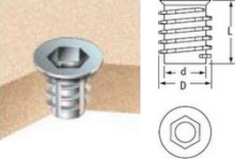 Cone- Shaped D Insert Nuts
