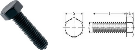 Hexagonal Head Screws - Black Nylon
