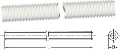 Threaded Rod - 100 cm